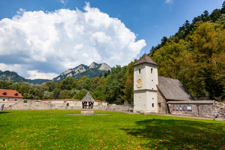Red Monastery - monastery complex in Slovakia in the village of Red Monastery on the Dunajec - three Crowns Stock fotó