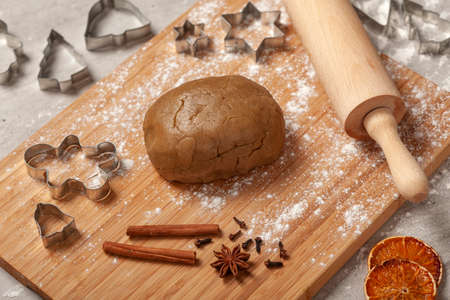 Christmas - preparing homemade gingerbread for the holidays