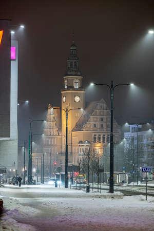Town Hall in Olsztyn - the seat of Olsztyn authorities since 1915. It is located in Śródmieście, at John Paul II Square. View from Piłsudskiego Street