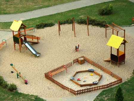 playground for kids on the sand photo