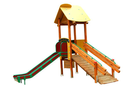 slide for children, isolated on white, with clipping path Foto de archivo