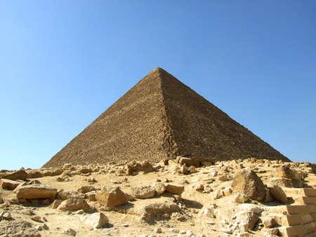 huge pyramid on an Arabian desert in Egipt
