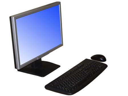 resentation: Desktop computer isolated on white Stock Photo