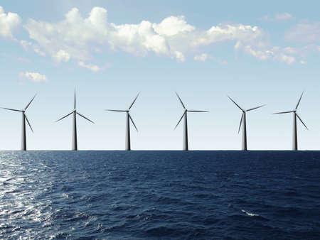 Windfarm at the sea