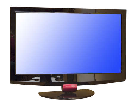 wideview: TV set isolated, with clippin path inside and outside