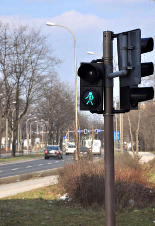 Traffic lights for walkers on a street Stock Photo - 4480750