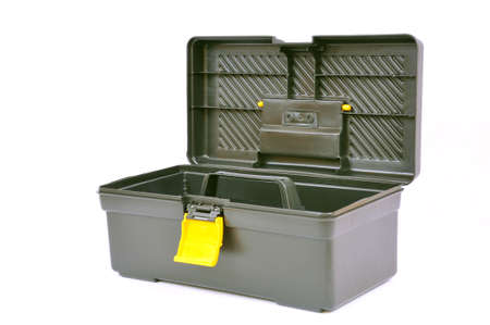Open toolbox isolated on white, with clipping path