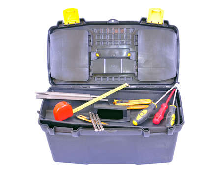 Toolbox with several different tools, isolated on white with clipping path Stock Photo - 6394726
