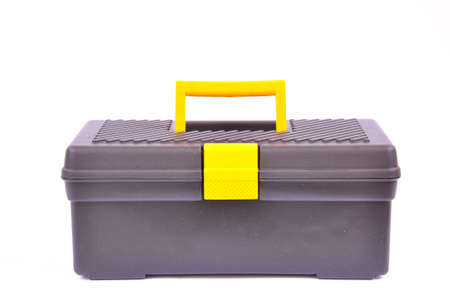 Tool box isolated on white, with clipping path