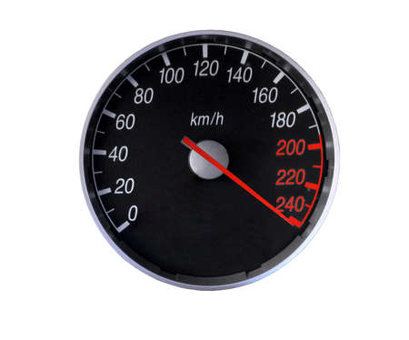 Speedometer isolated on white