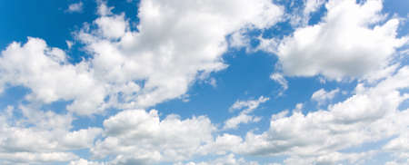 Blue sky full of white clouds photo