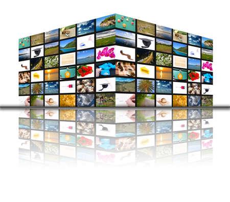 Big multimedia television panel - multimedia cube