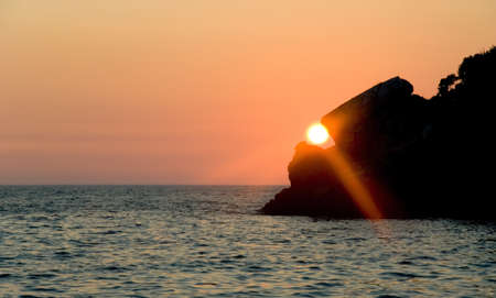 Sunset at the sea, landscape Stock Photo - 9465719