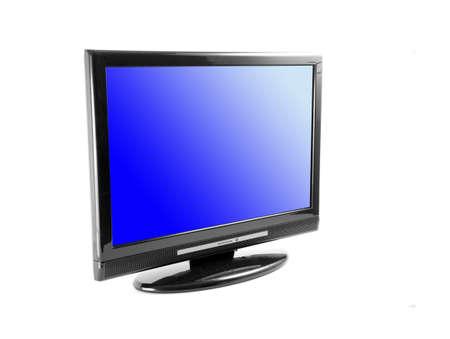 Tv set isolated on white photo