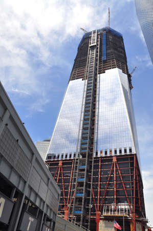 wtc: Construction of World Trade Center tower Editorial