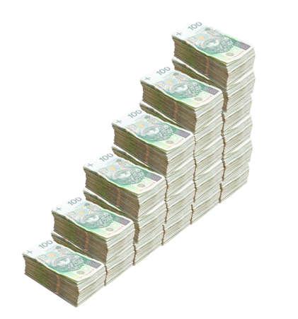 Polish Z�oty bills, growing prices