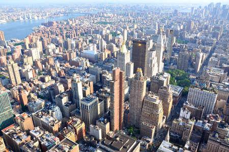 View on the New York city skyline