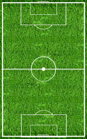 football pitch: Top view on the football field Stock Photo