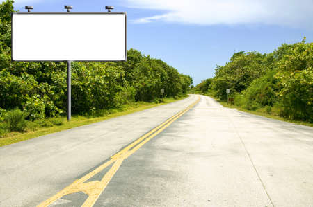 Billboard with copyspace near road photo