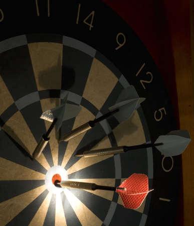 a dart hitting the highest scoring mark