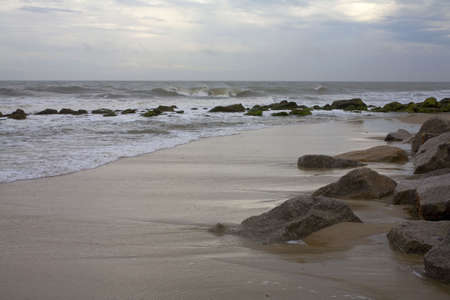 Tide coming in off the coast of North Carolina photo