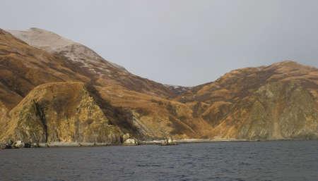 hills on Kodiak Island in the dead of winter photo