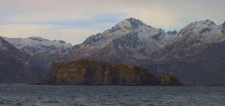coast off Kodiak Island in Alaska in the late fall photo