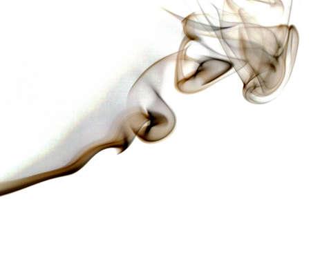 smoldering: smoke heading up