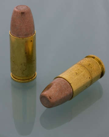 luger: sintered bullets on a pair of 9 mm Luger cartridges Stock Photo