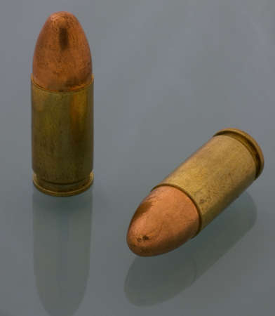 9 mm luger cartridge with an FMJ bullet photo