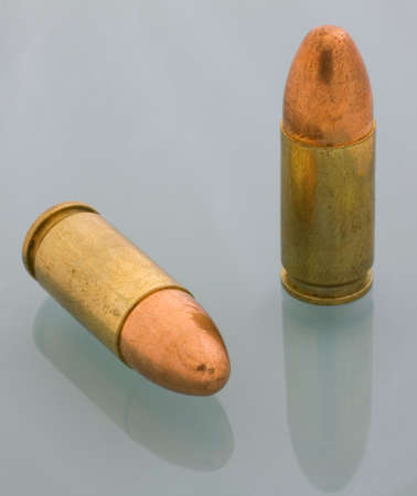 copper jacketed bullets for a 9 mm handgun photo