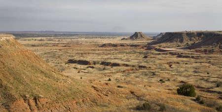 오클라호마의 북서쪽 구석에있는 buttes 및 암석 스톡 콘텐츠
