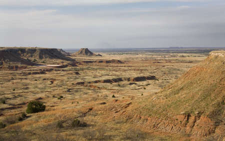 buttes and mesas in the northwest corner of Oklahoma