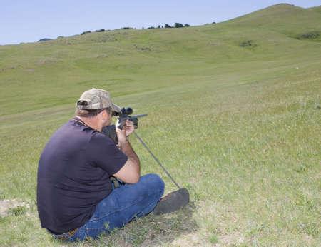 long shot: shooter tenendo molto a lungo girato in Montana
