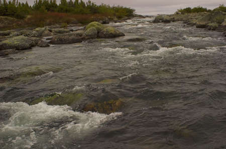 river in a remote region of Canadas Quebec province