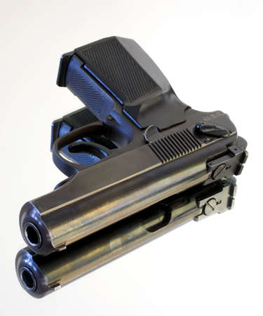handgun and reflection off a sheet of glass Stock Photo - 3853941