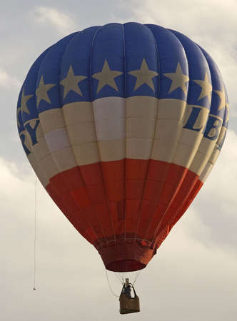 hot air balloon that is in the sky