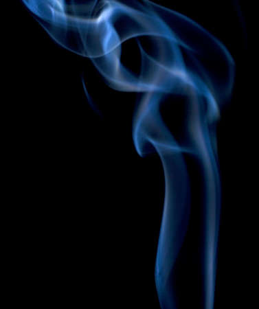blue smoke on black that is rising up