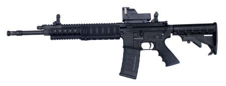 반 자동 라이플은 AR-15로 알려져 있으며 .223