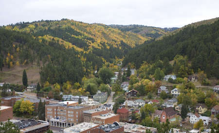Deadwood South Dakota as seen from the city cemetery 版權商用圖片