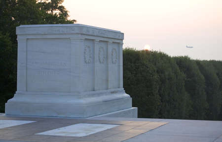 tomb of the unknown soldier on Arlington National Cemetery
