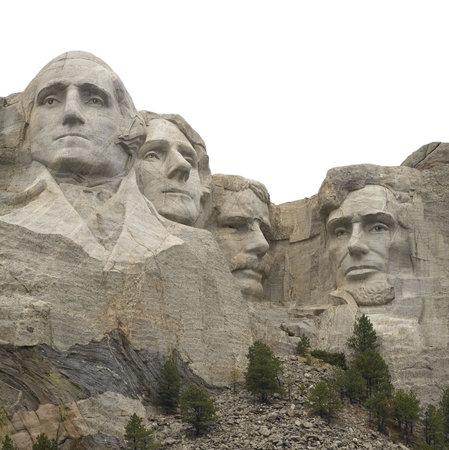 사우스 다코타의 고립 된 산 Rushmore 에디토리얼
