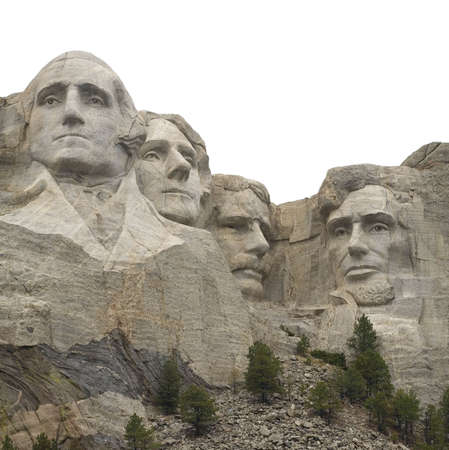 Mount Rushmore in South Dakota that has been isolated