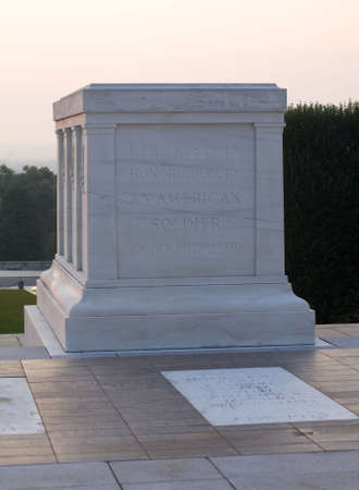 tomb of the unknown soldier in Arlington at dawn Stock Photo