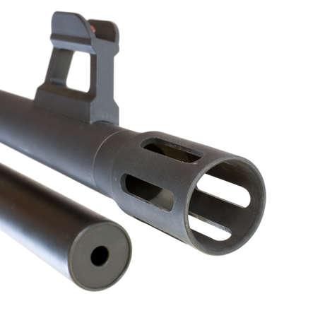 flash hider, front sight and magazine for a pump shotgun