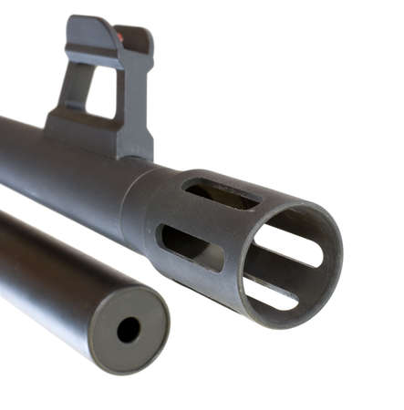 flash hider: fogonazo, punto de mira y revista para una escopeta de bomba