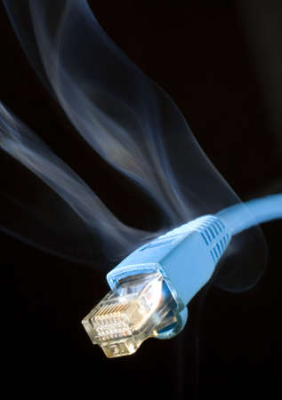 blue lan network cable that is fast enough to smoke