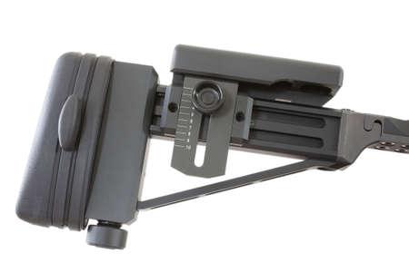 meant: metalliche pieghevoli di magazzino che � stata pensata per un fucile di precisione Archivio Fotografico
