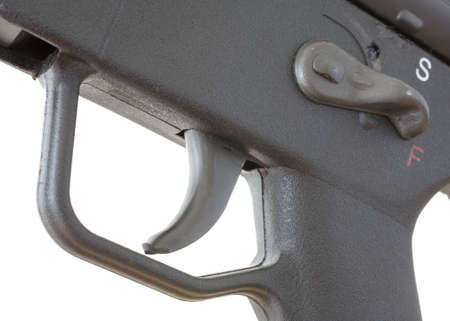 trigger group and the safety on an assault rifle