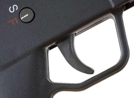 gatillo: lista para disparar como visto de cerca el gatillo de la pistola